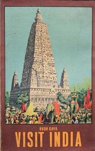 India, Old Travel Poster