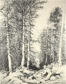 """Mildred Bryant Brooks, """"South Fork, etching"""""""