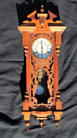 Wood Hanging Grandfather Clock