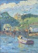 Simon Blaisdell, Sail boat, impasto, double sided