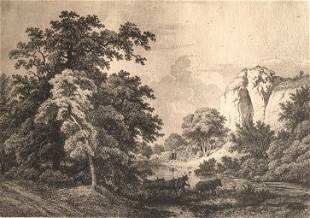 French scene with Louve stamp