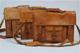 (lot of 3) New Genuine Leather Briefcase Bags
