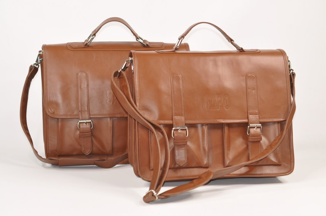 (lot of 2) Genuine Leather Men's Briefcase High Class