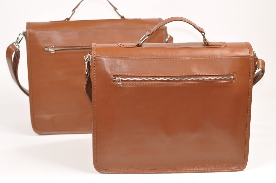(lot of 2) Genuine Leather Men's Briefcase High Class - 2