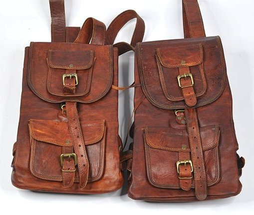 (lot of 2) Genuine Leather Backpack
