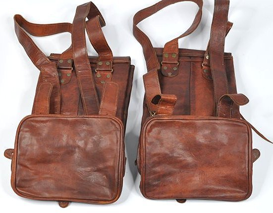 (lot of 2) Genuine Leather Backpack - 2
