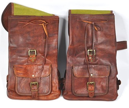 (lot of 2) Genuine Leather Backpack - 3