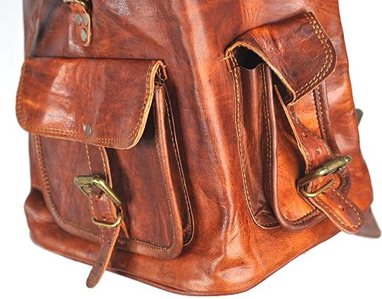 (lot of 2) Genuine Leather Backpack - 4