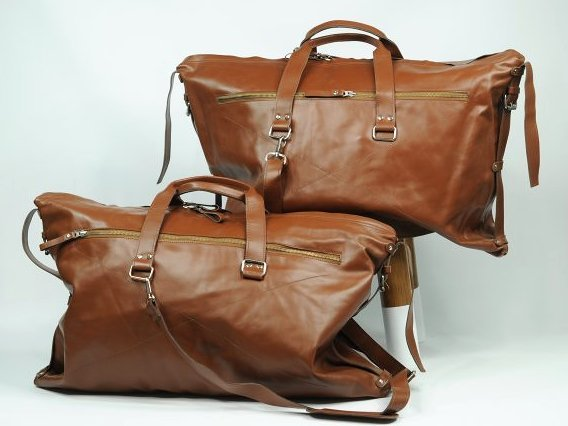 (lot of 2) Genuine Leather Travel Bag Luggage Handmade