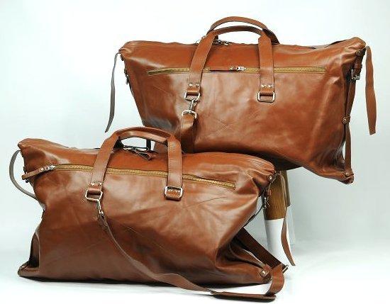 (lot of 2) Real Leather Bag Luggage Handmade Full-Grain