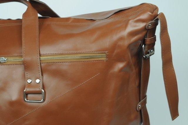 (lot of 2) Real Leather Bag Luggage Handmade Full-Grain - 4
