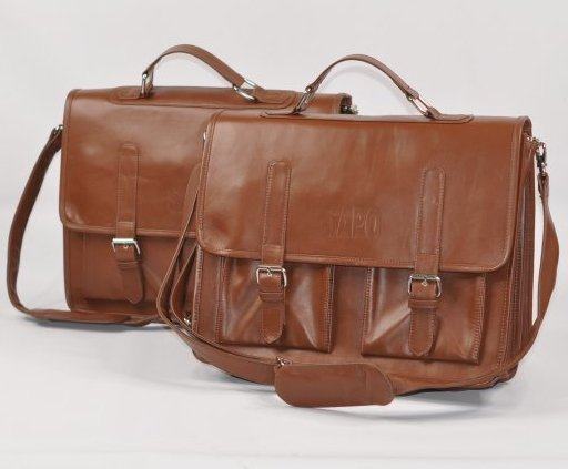 lot of 2) Genuine Leather Briefcase Men's High Business