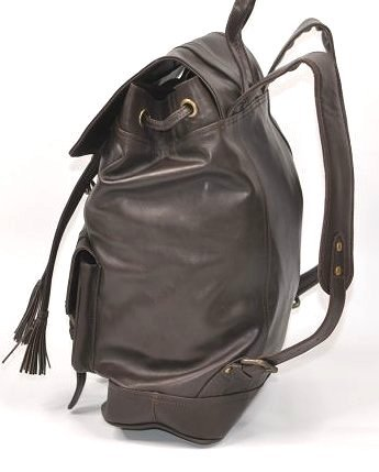 Genuine Top Grain Leather Backpack - 3