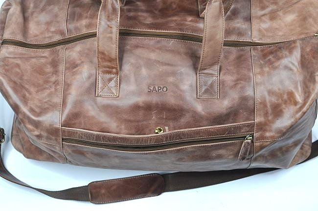(lot of 2)Genuine Leather Duffel Bags Vintage Briefcase - 4