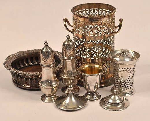 Sterling silver and silverplate tablewares