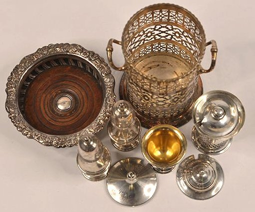 Sterling silver and silverplate tablewares - 2
