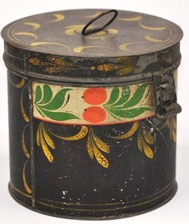 19th C. Pennsylvania Toleware Sugar Box Canister