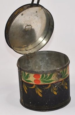 19th C. Pennsylvania Toleware Sugar Box Canister - 5