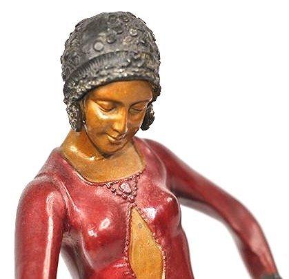 Antique Bronze Art Deco D.Chiparus Bronze - 2