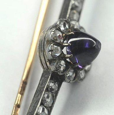 Original Faberge Russian Silver Gold Natural Color Sap - 3