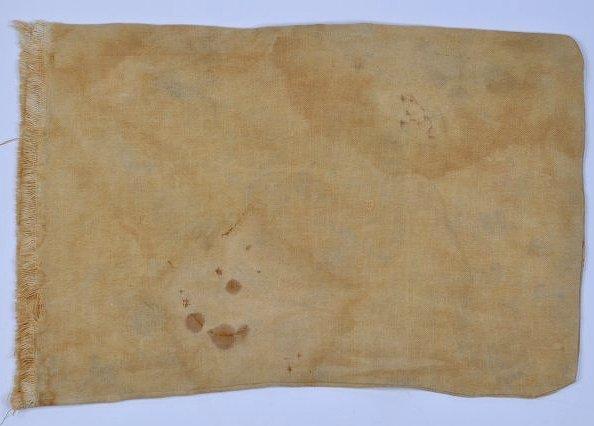 Antique Embroidered Patriotic Banner Pillow Civil War - 3