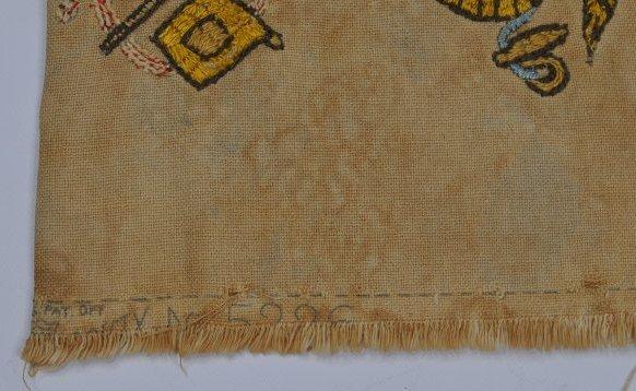 Antique Embroidered Patriotic Banner Pillow Civil War - 4