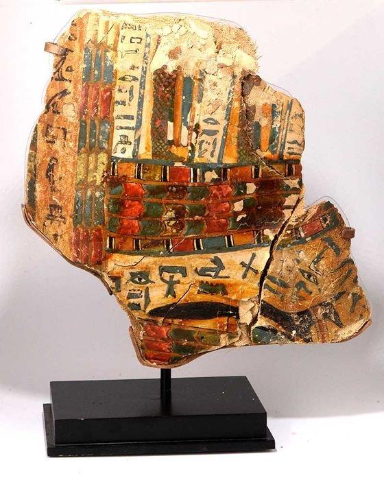 Egyptian Cartonnage Inner Sarcophagus Translated