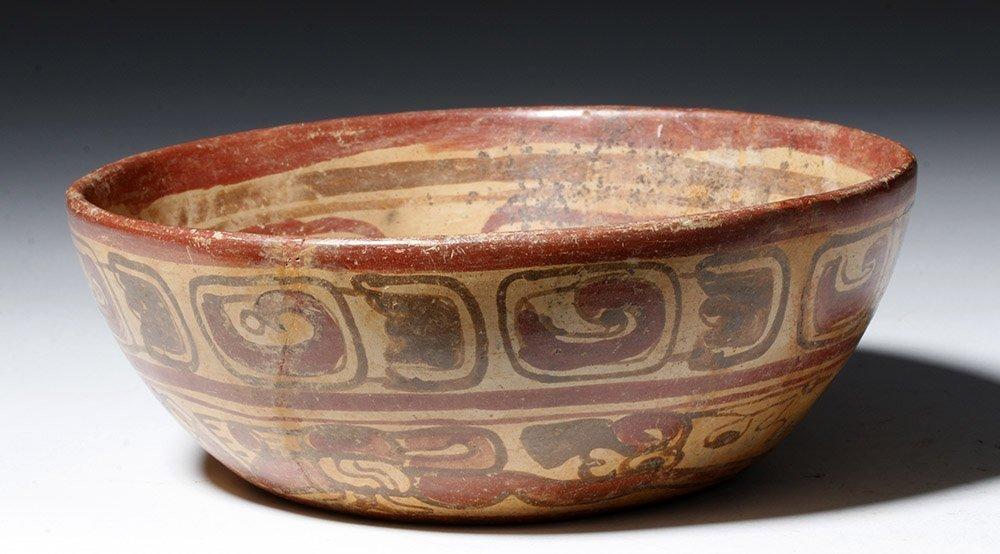 Mayan Copador Polychrome Swimmer Bowl