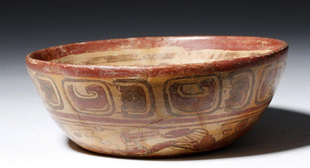 Mayan Copador Polychrome Swimmer Bowl - 3