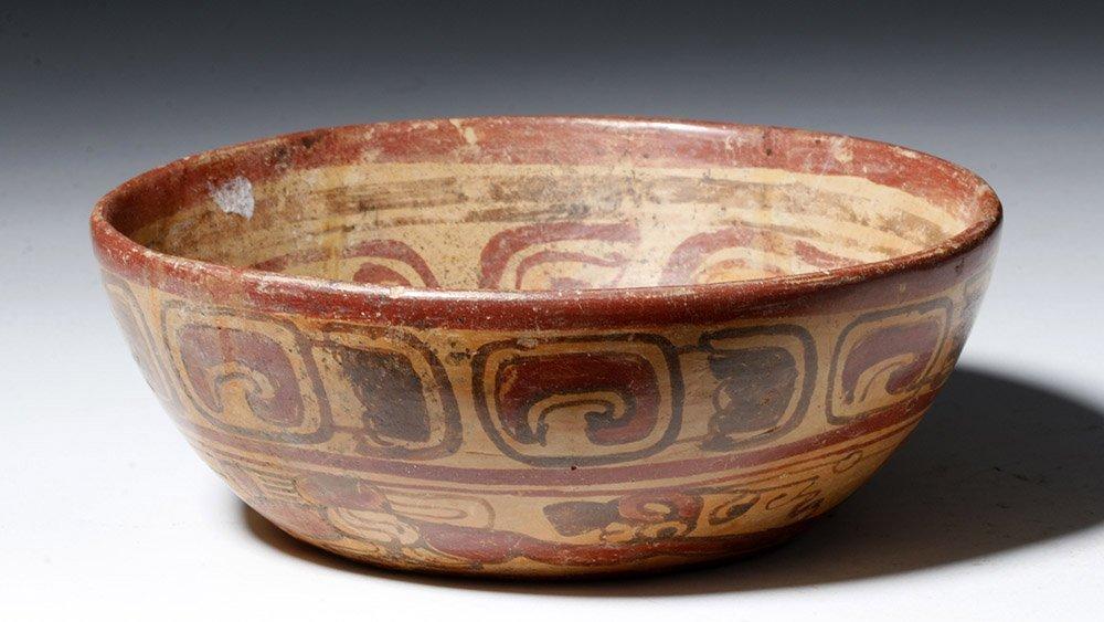Mayan Copador Polychrome Swimmer Bowl - 4