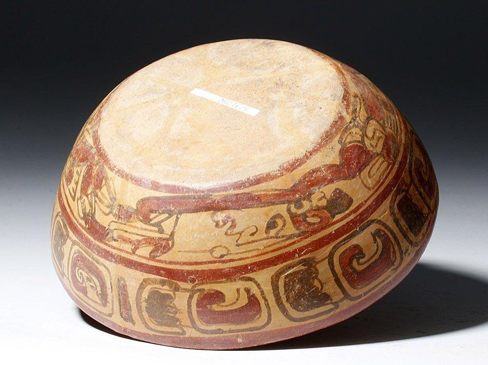 Mayan Copador Polychrome Swimmer Bowl - 6