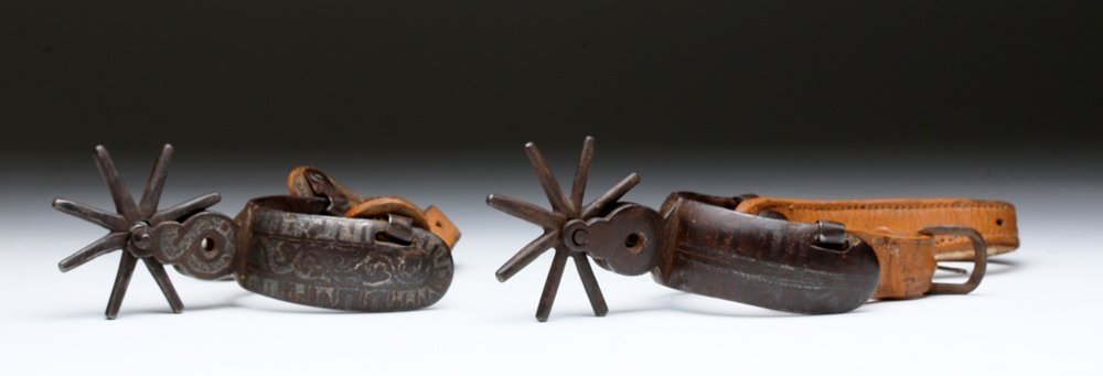 19th C. Mexican Spurs, Iron / Silver, ex-Historia - 3