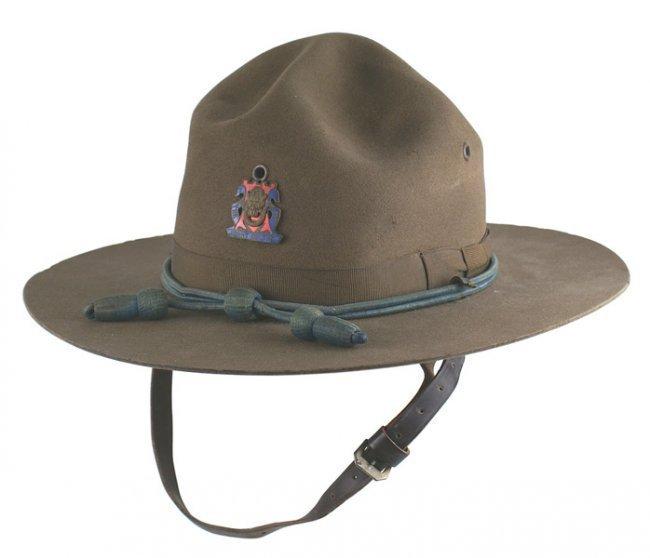 U.S. WWI Campaign hat. Enameled 14th Regiment