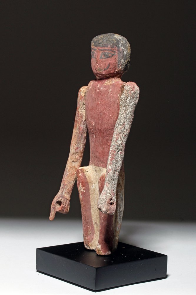 Fine Egyptian Middle Kingdom Wood Boatman