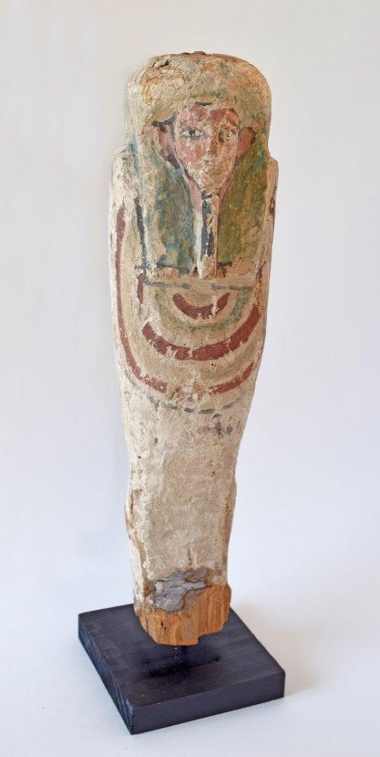 Egyptian wooden Ptah-Sokar-Osiris figure, Ex Museum