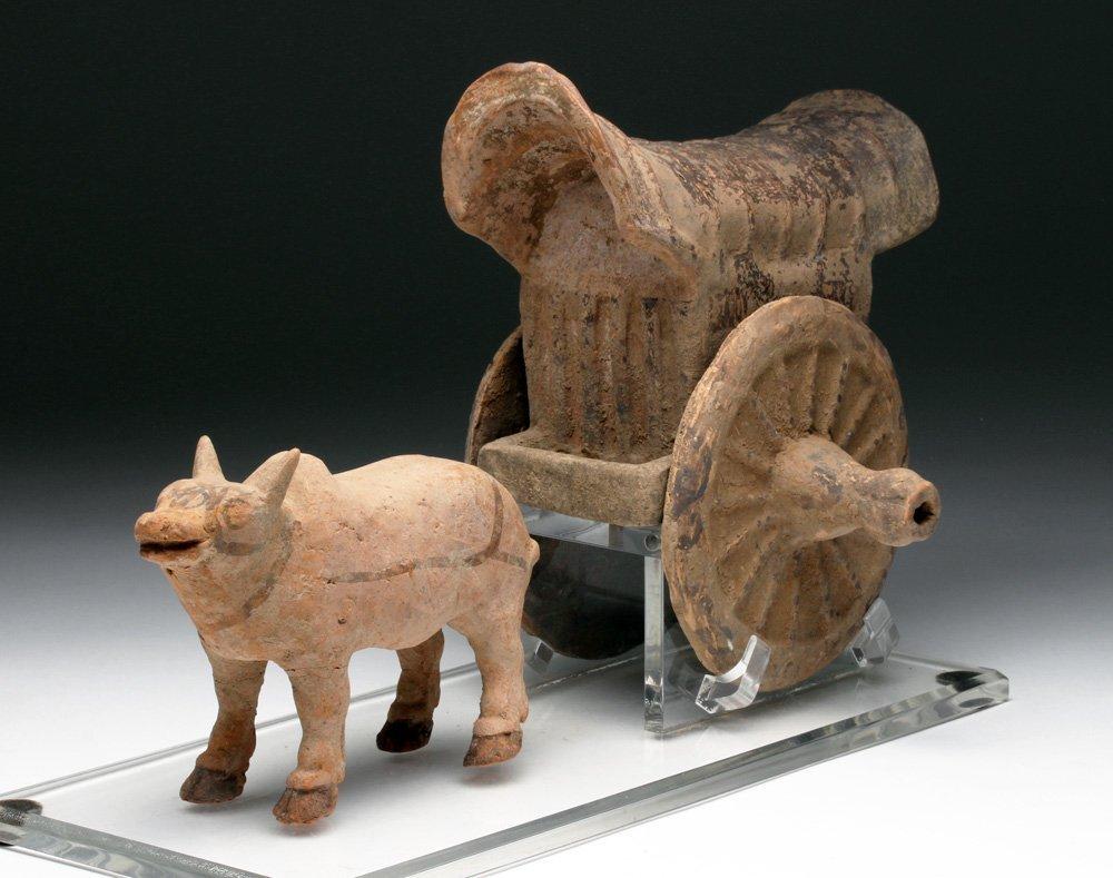 Han Dynasty Terracotta Bullock Cart Mingqi