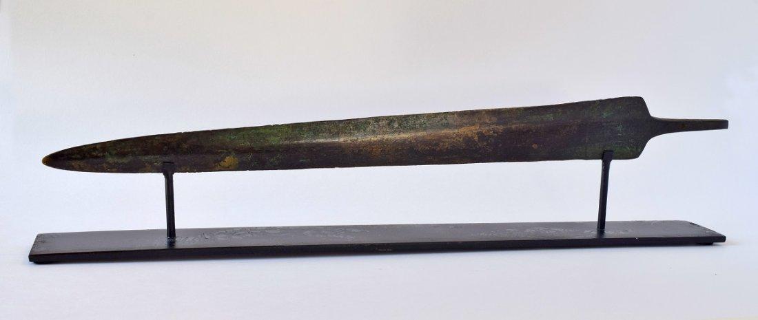 "Superb Luristan Bronze Tanged Sword, 16 3/4"""