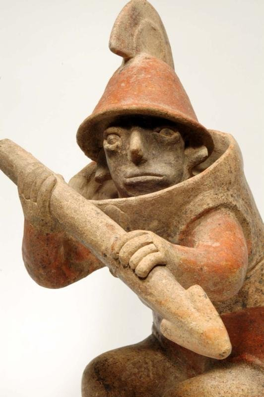 Pre Columbian Jalisco Pottery Armored Warrior