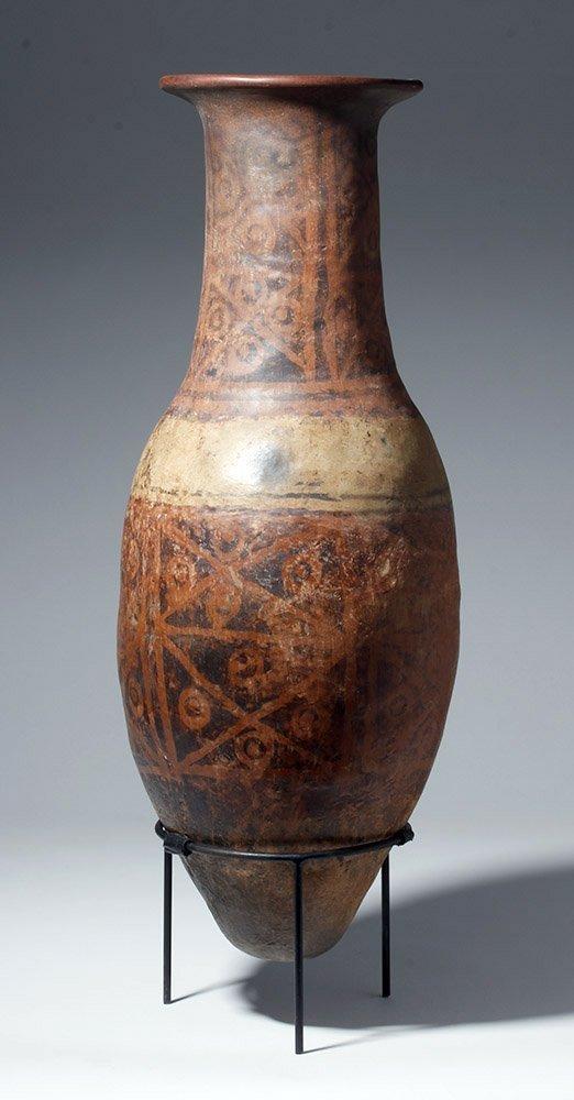 "Huge Narino Polychrome ""Bullet"" Amphora 26"" Tall"