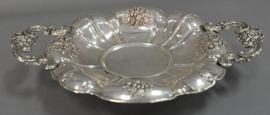 Silver two handle dish. wd. 14in., 11.5 t oz.