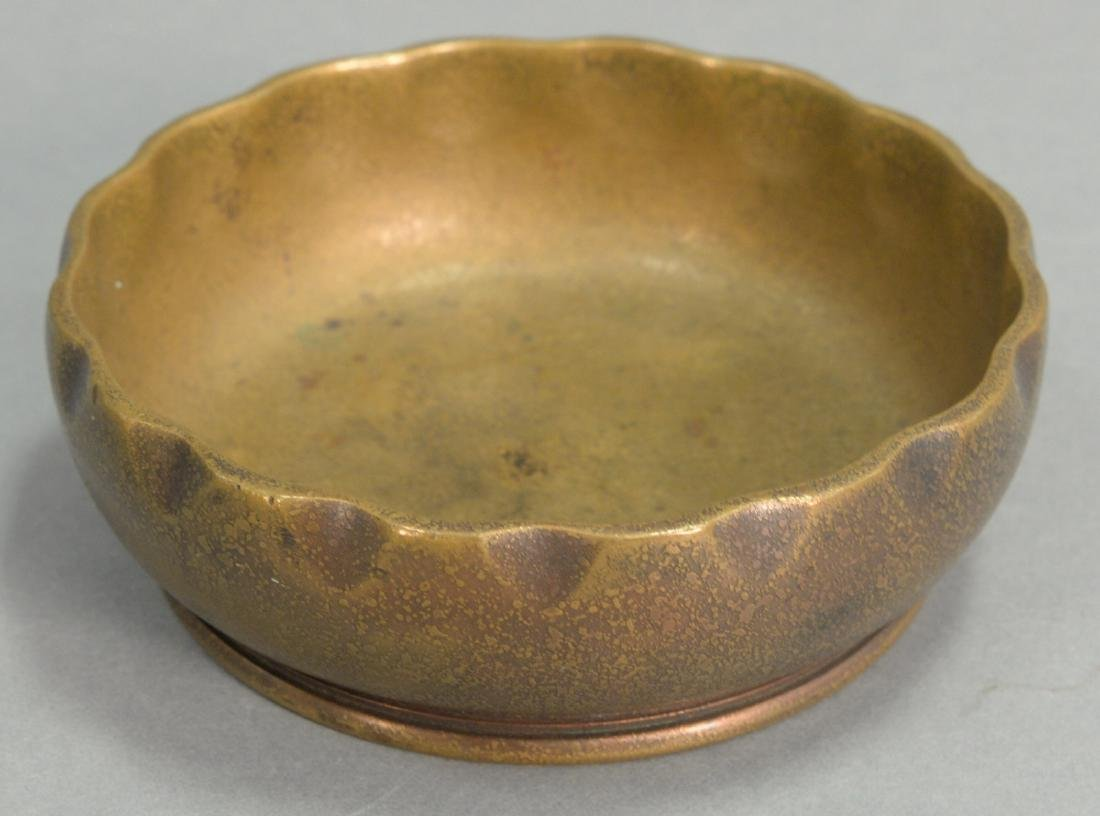 Tiffany Studios bronze dish marked Tiffany Studios, New