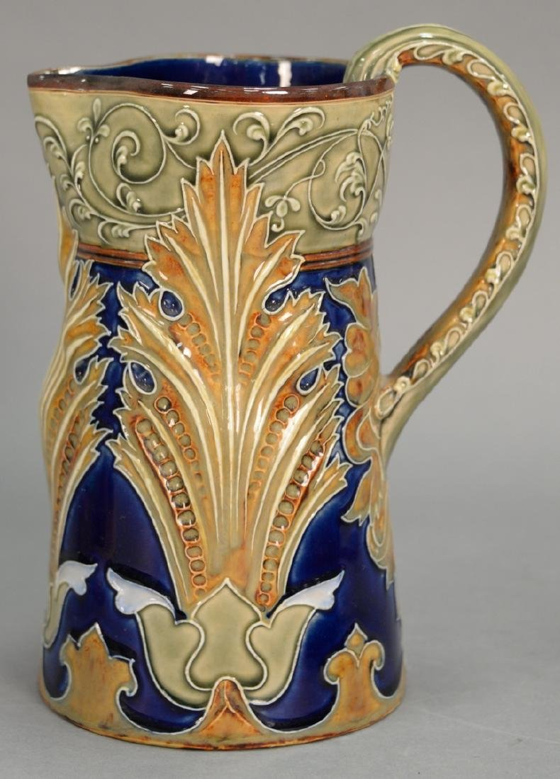 Doulton Lambeth stoneware pitcher by Mark Marshall