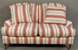 Highland House custom loveseat in red, white, and blue