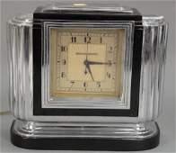 Art Deco Manning Bowman electric chrome clock. height