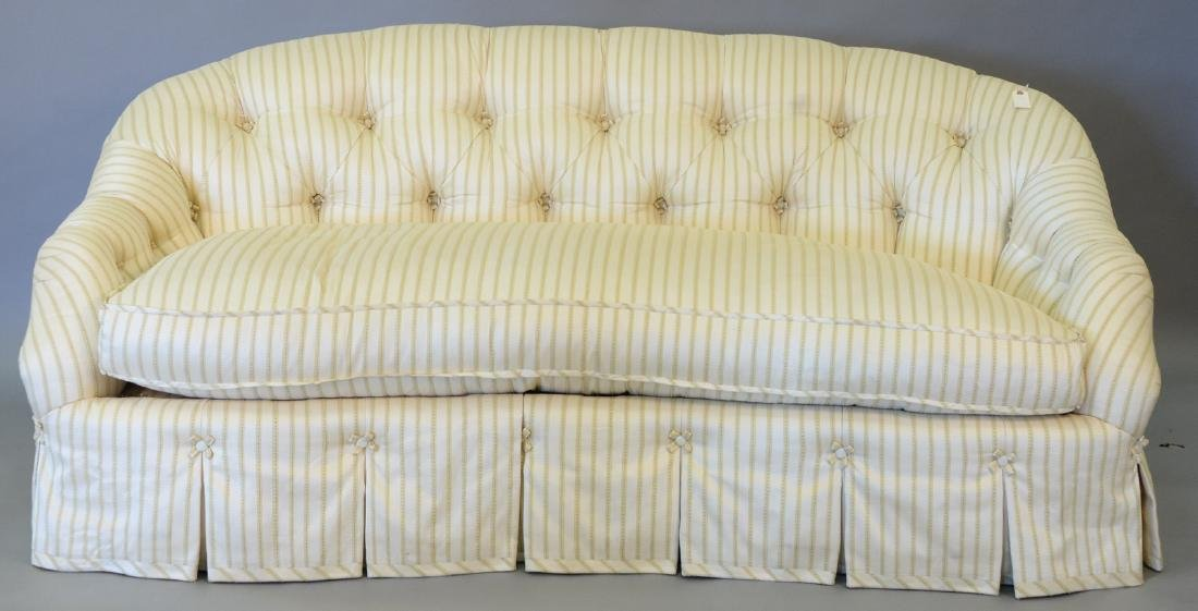 Cameron Collection Dallas custom upholstered sofa, very