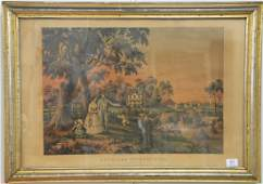 N Currier colored lithograph American Country Life