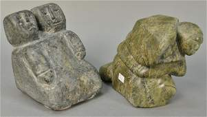 Two Inuit Eskimo figural carvings including Edward