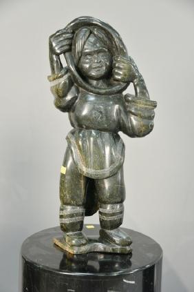 Inuit Eskimo carving, Kiawak Ashoona (1933-2014), Cape