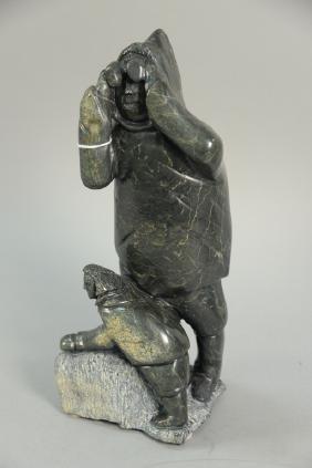Inuit Eskimo carving, Oolariak Ashoona, Cape Dorset,