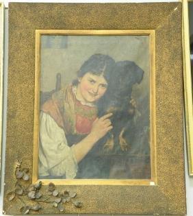 Fritz Steinmetz-Noris (1860-1937) oil on canvas Girl